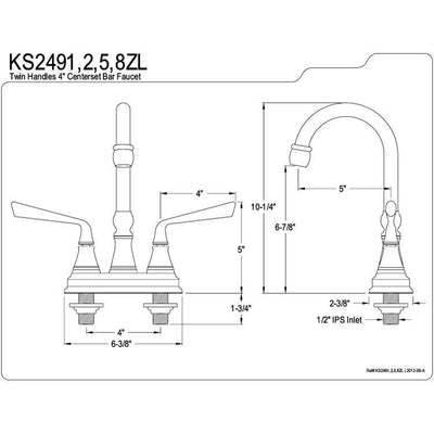 Kingston Silver Sage Oil Rubbed Bronze Bar Sink Convenience Faucet KS2495ZL