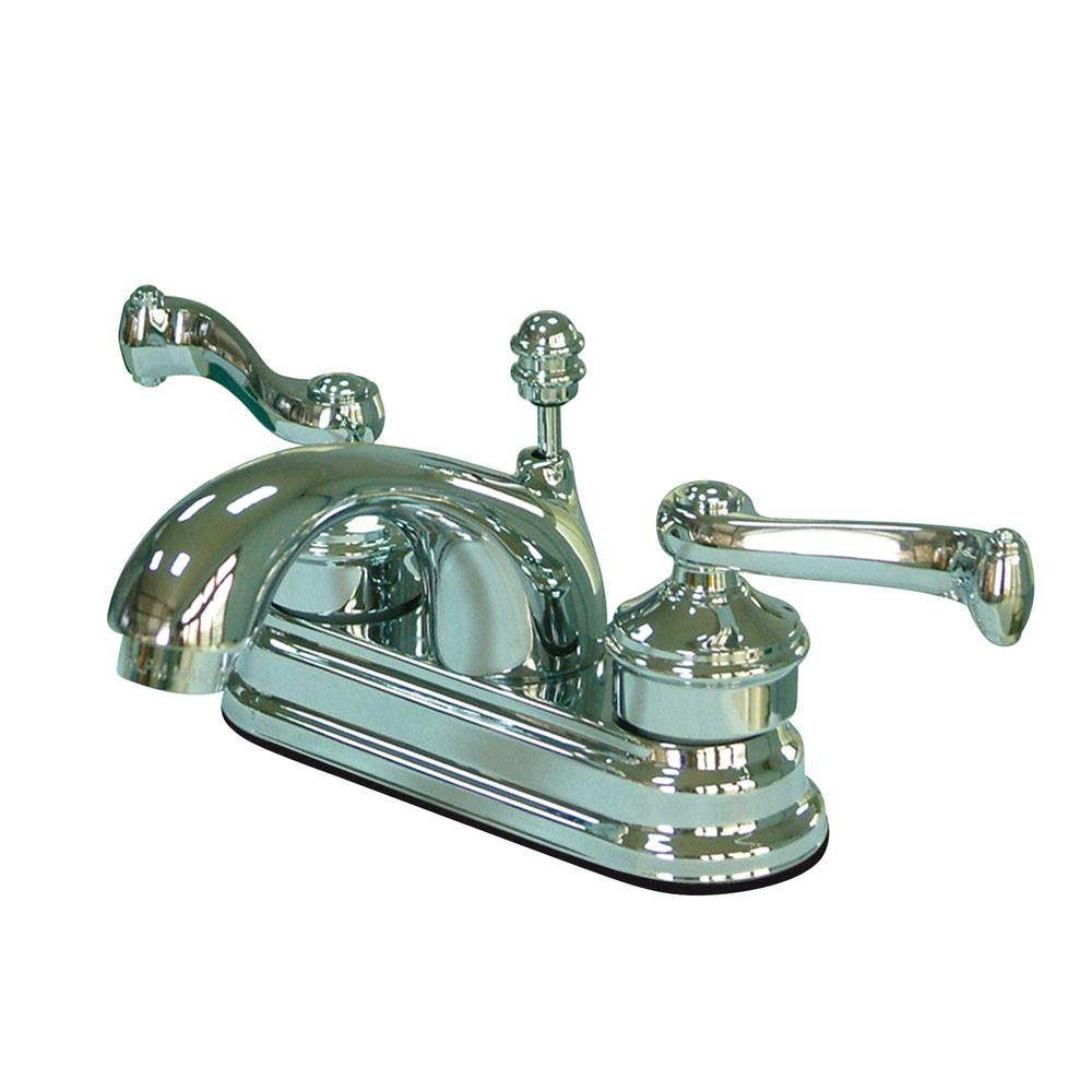 "Kingston Brass Chrome 2 Handle 4"" Centerset Bathroom Faucet w Pop-up KS2601FL"