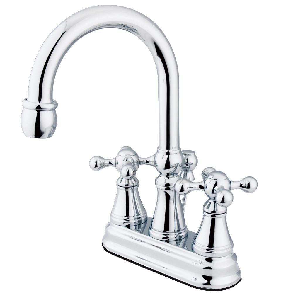 "Kingston Brass Chrome 2 Handle 4"" Centerset Bathroom Faucet w Pop-up KS2611KX"