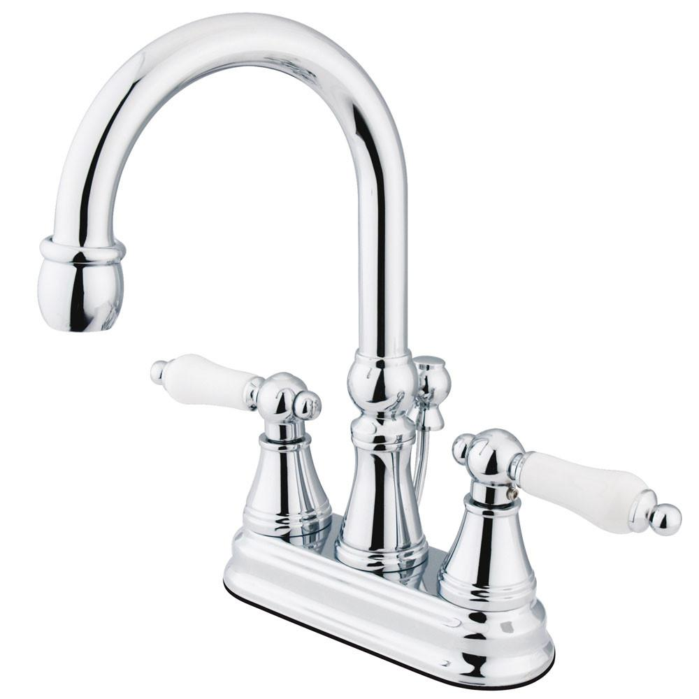 "Kingston Brass Chrome 2 Handle 4"" Centerset Bathroom Faucet w Pop-up KS2611PL"