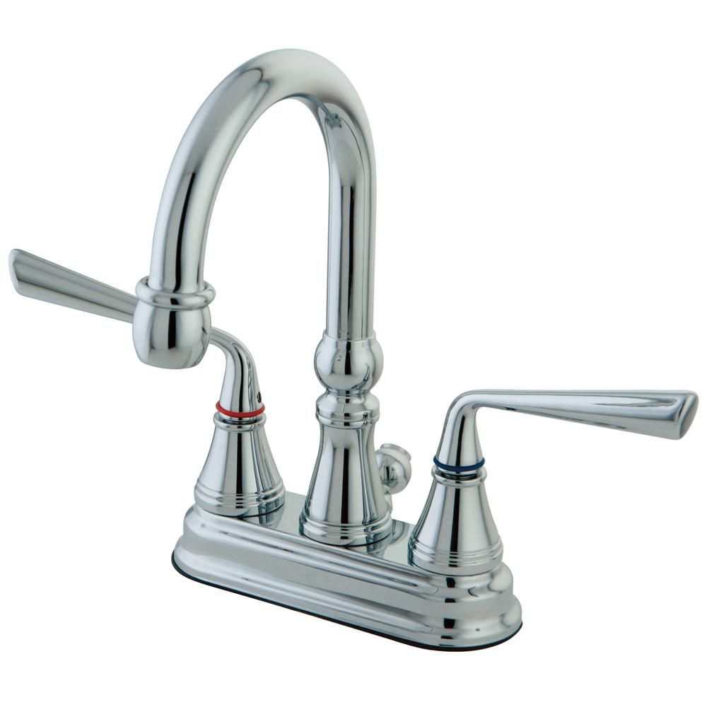 "Kingston Brass Silver Sage Chrome 4"" Centerset Bathroom Faucet KS2611ZL"