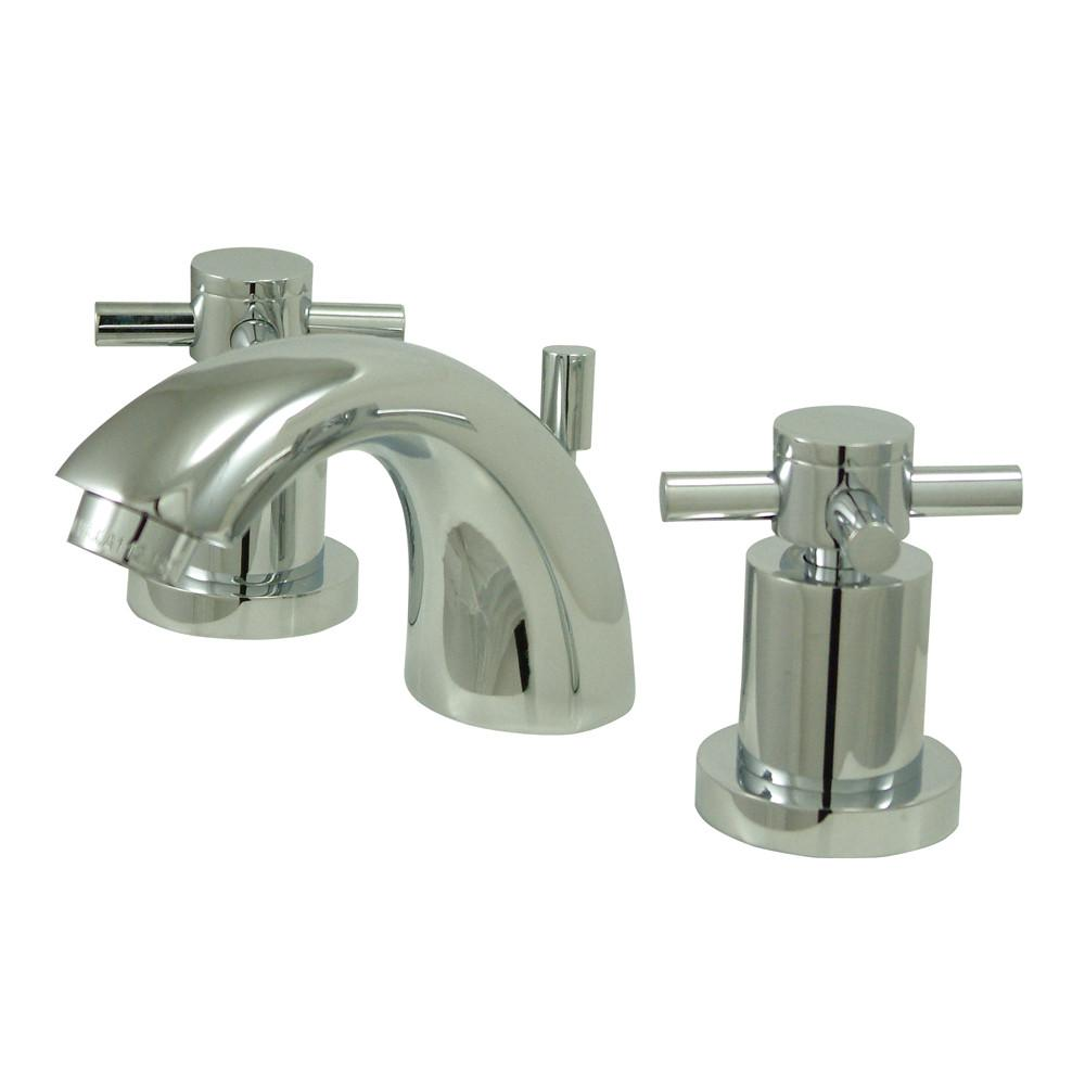 Chrome Two Handle Mini Widespread Bathroom Faucet w/ Brass Pop-Up KS2951DX