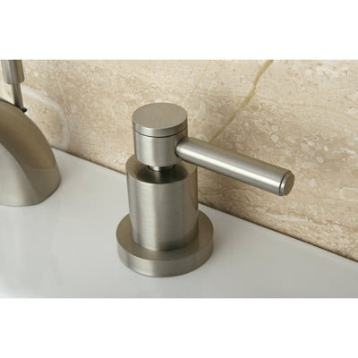 Satin Nickel Two Handle Mini Widespread Bathroom Faucet w/ Brass Pop-Up KS2958DL