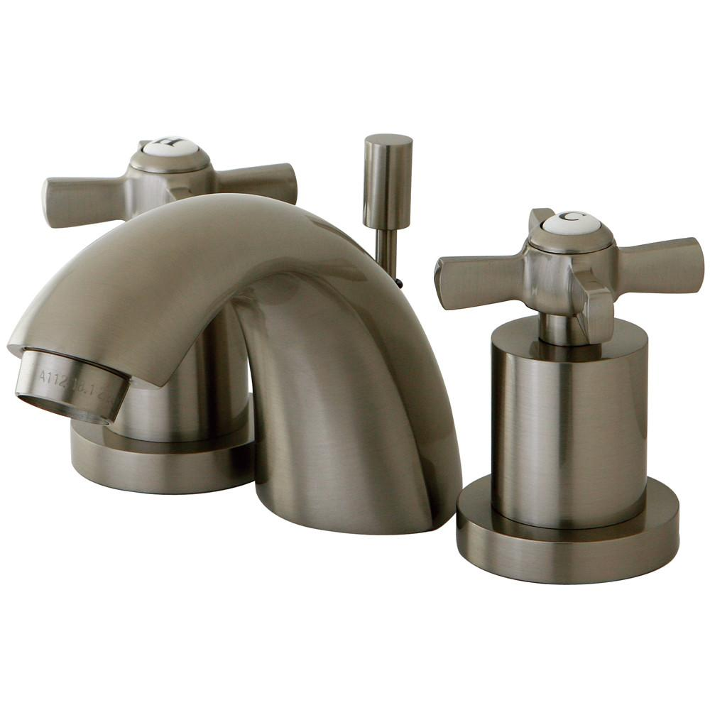 Kingston Brass KS2958ZX Mini Widespread Bathroom Faucet Satin Nickel