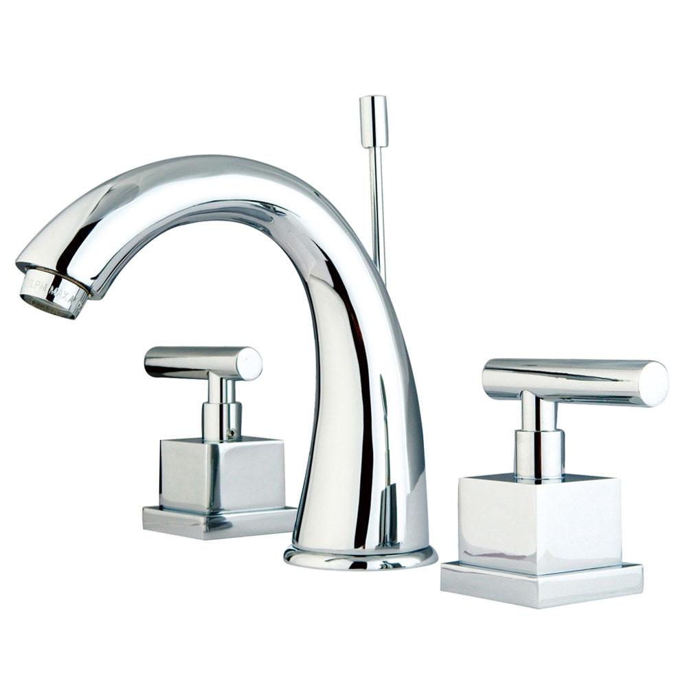 Kingston Brass Claremont Chrome Widespread Bathroom Faucet w/ drain KS2961CQL