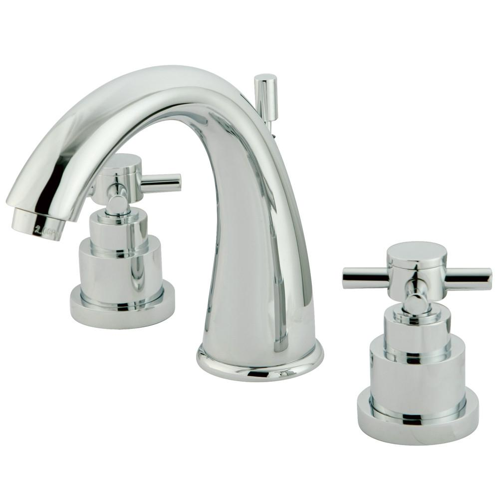 Kingston Brass Chrome 2 Handle Widespread Bathroom Faucet w Pop-up KS2961EX