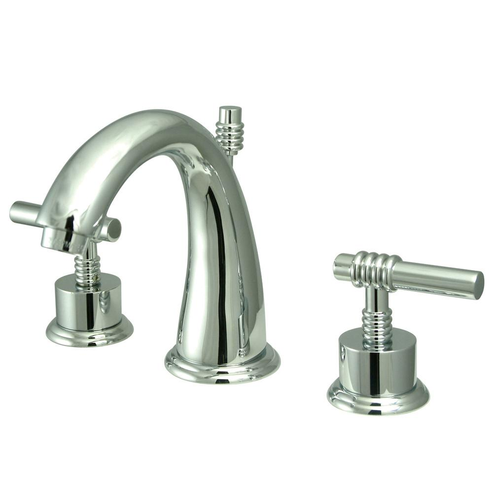 Kingston Brass Chrome 2 Handle Widespread Bathroom Faucet w Pop-up KS2961ML