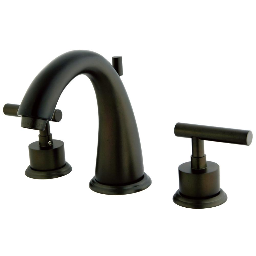 "Kingston Oil Rubbed Bronze Manhattan 8"" widespread Bathroom faucet KS2965CML"