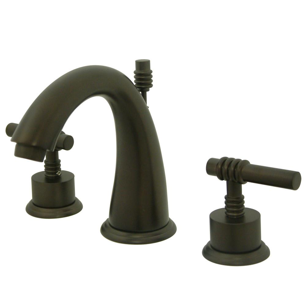 Kingston Oil Rubbed Bronze 2 Handle Widespread Bathroom Faucet w Pop-up KS2965ML