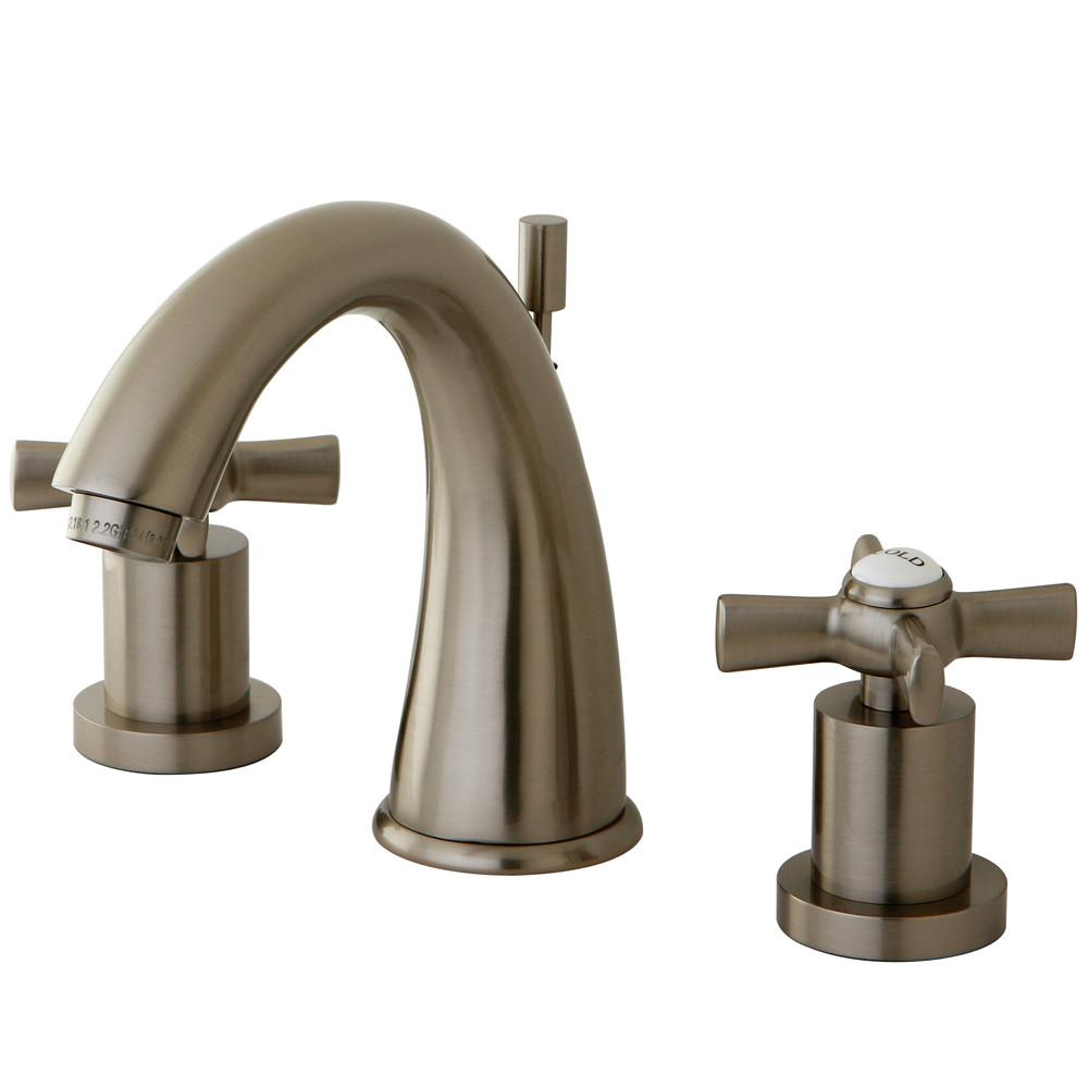 Kingston Brass KS2968ZX Widespread Bathroom Faucet Satin Nickel