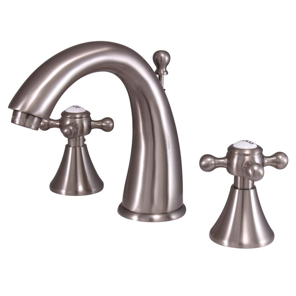 Kingston English Country Satin Nickel Widespread Bathroom Faucet KS2978BX