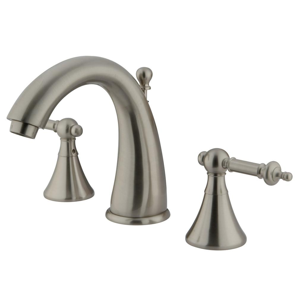 Kingston Satin Nickel 2 Handle Widespread Bathroom Faucet w Pop-up KS2978TL