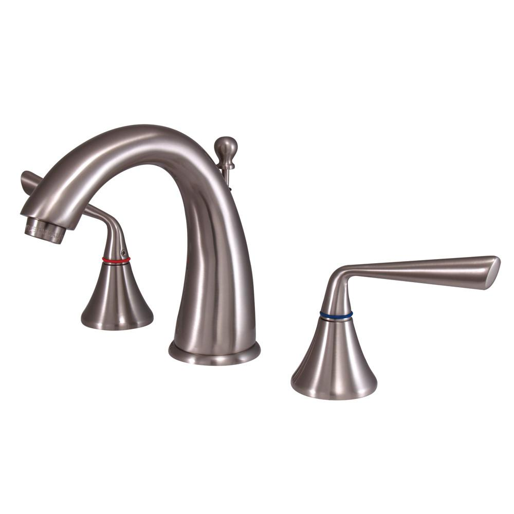Kingston Silver Sage Satin Nickel Widespread Bathroom Faucet W/Pop-Up KS2978ZL