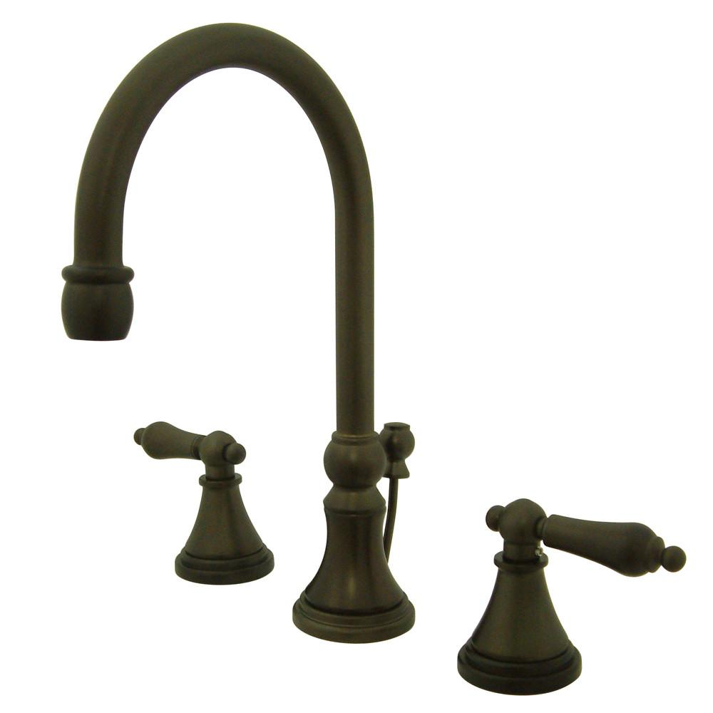 Kingston Oil Rubbed Bronze 2 Handle Widespread Bathroom Faucet w Pop-up KS2985AL