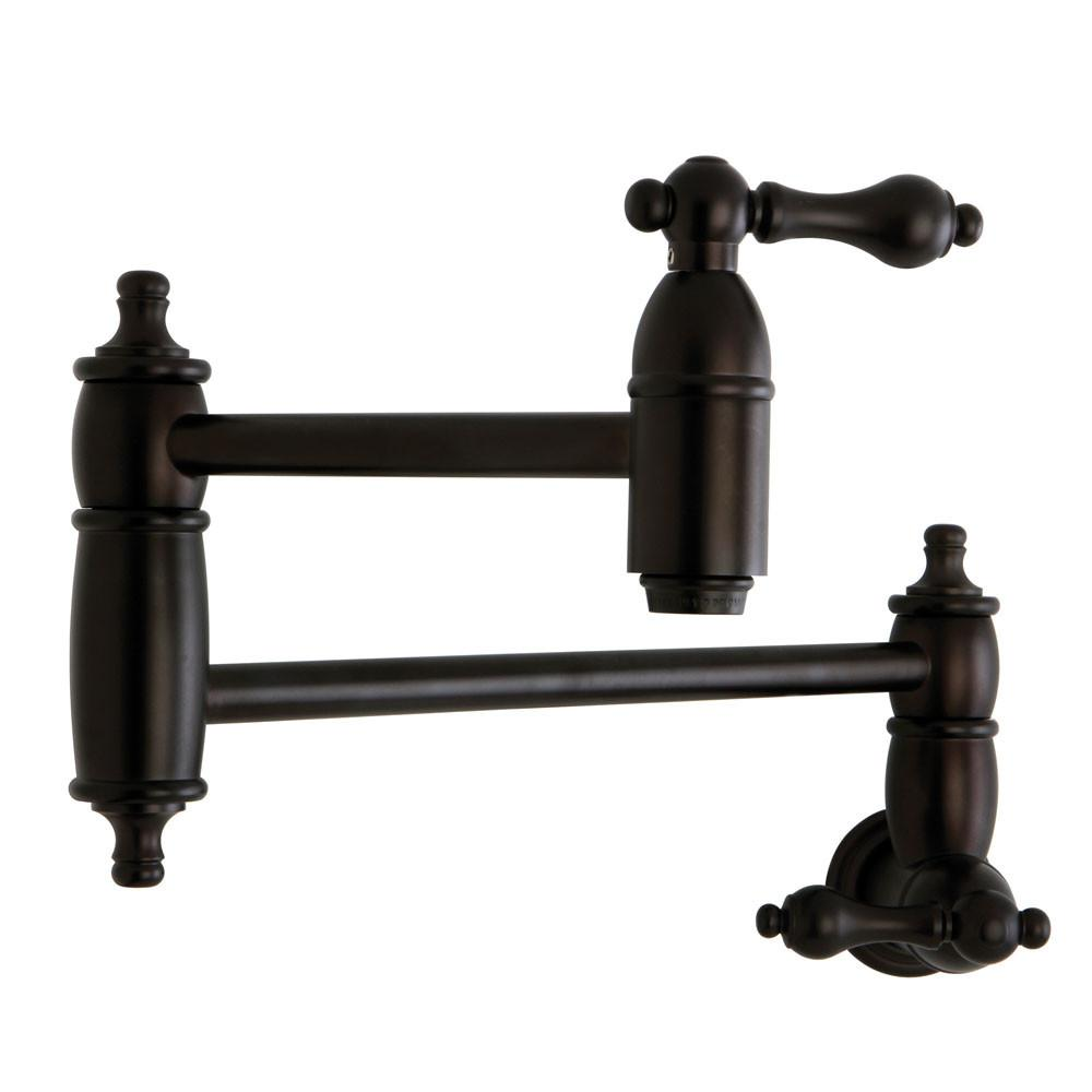 Rubbed Bronze Kitchen Faucet Kingston Brass Lever Handle Oil Rubbed Bronze Kitchen Pot Filler