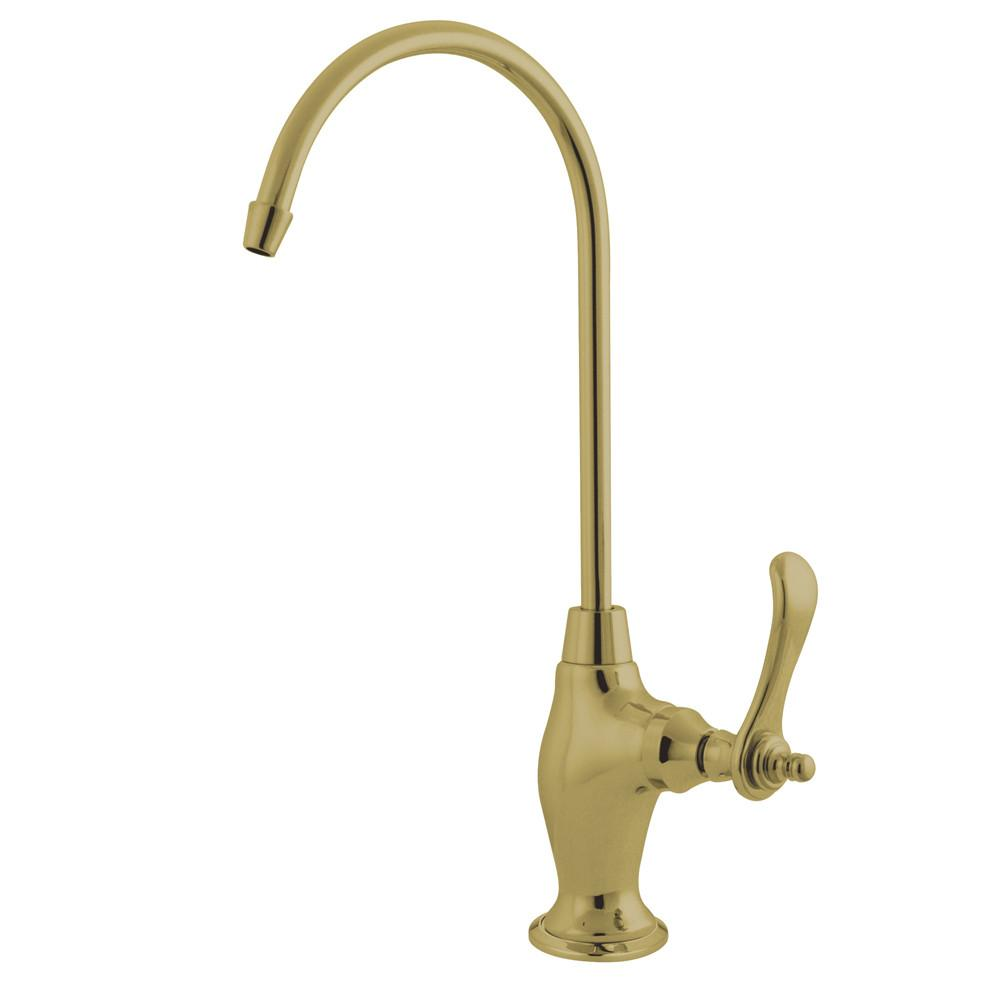 Kingston Polished Brass Templeton Design 1/4 Turn Water Filter Faucet KS3192TL