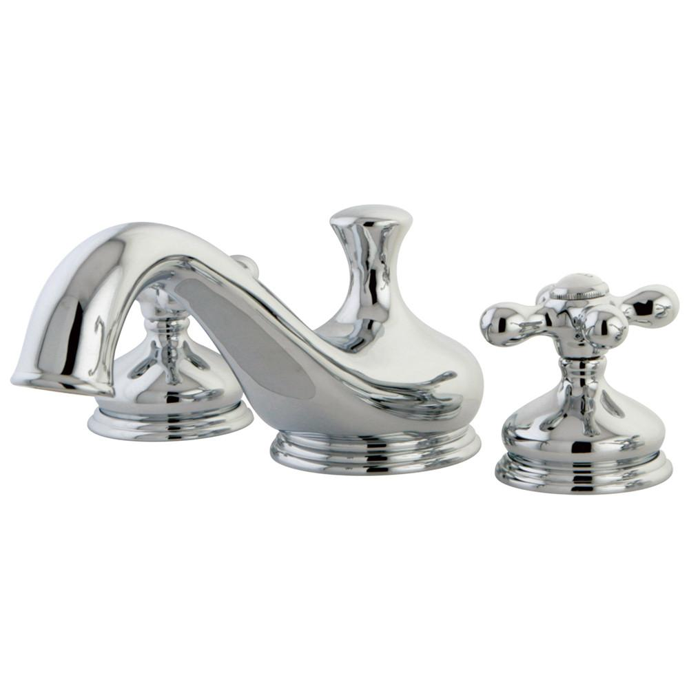 Kingston Brass Chrome Heritage Two Handle Roman Tub Filler Faucet KS3331AX