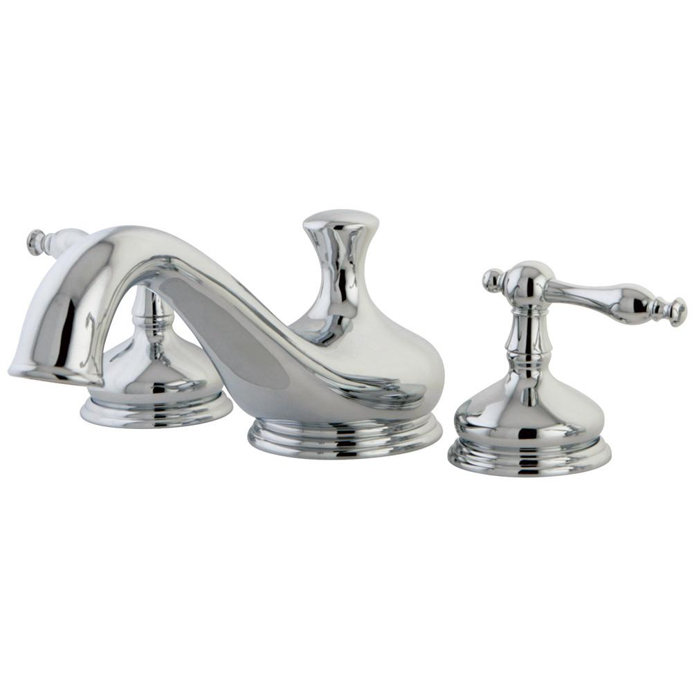 Kingston Brass Chrome Heritage Two Handle Roman Tub Filler Faucet KS3331NL