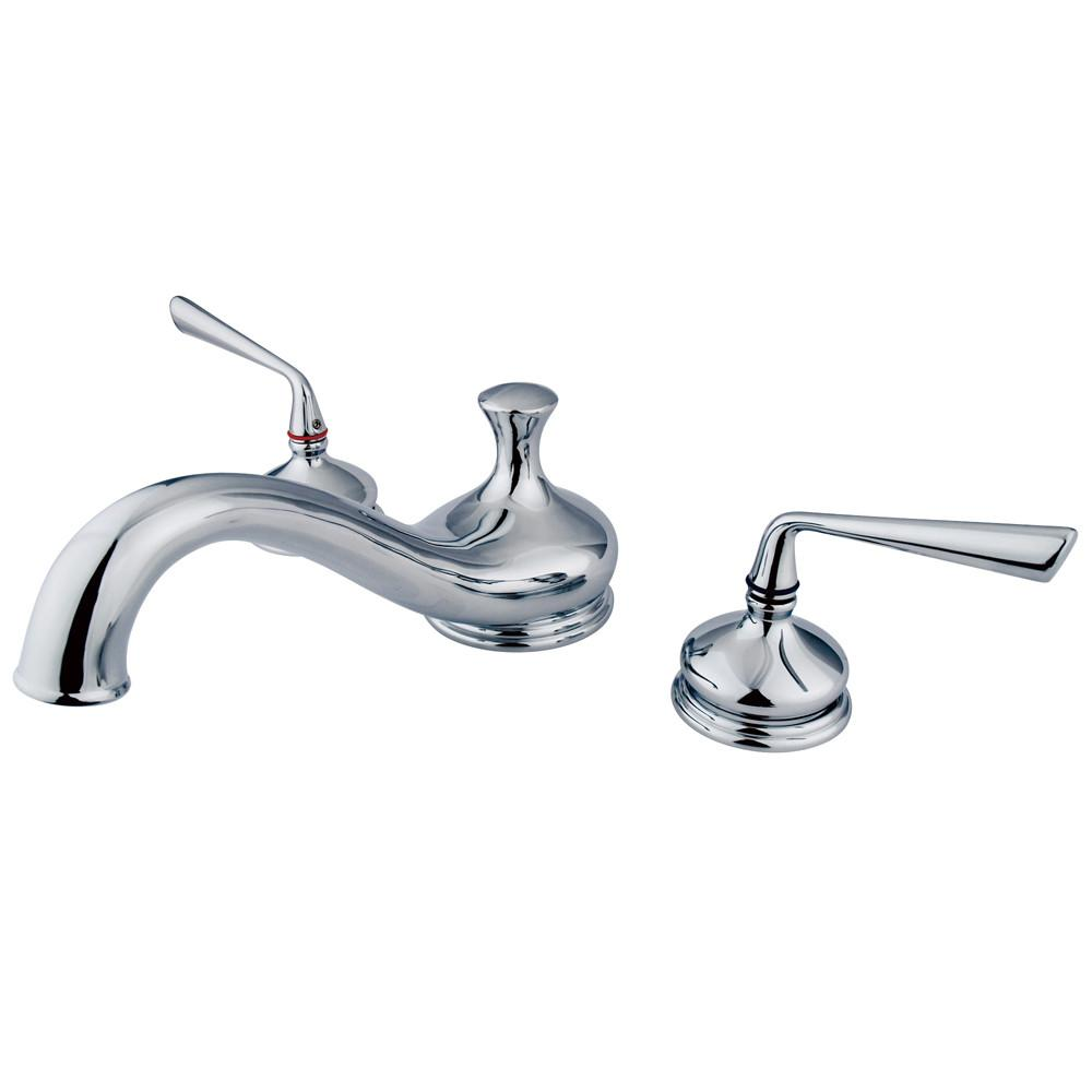 Kingston Brass Silver Sage Chrome Bathroom Roman Tub Filler KS3331ZL