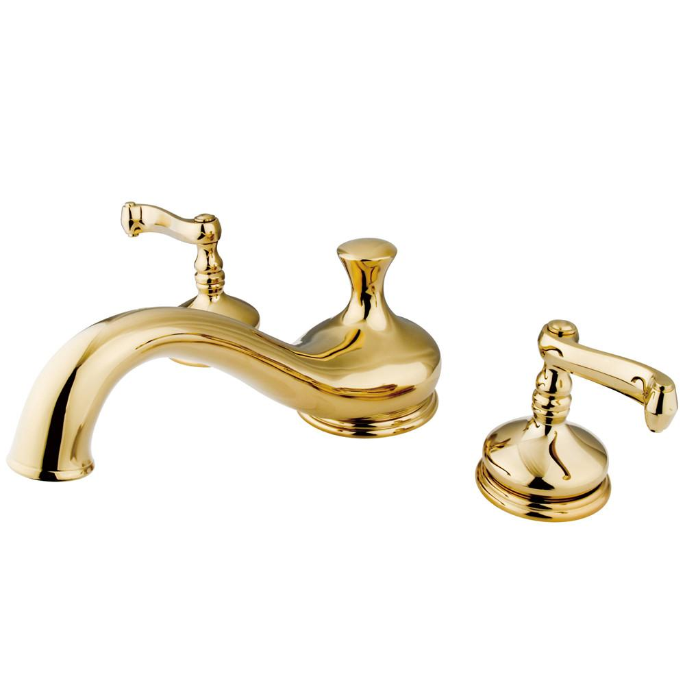 Kingston Brass Polished Brass Royale Two Handle Roman Tub Filler Faucet KS3332FL