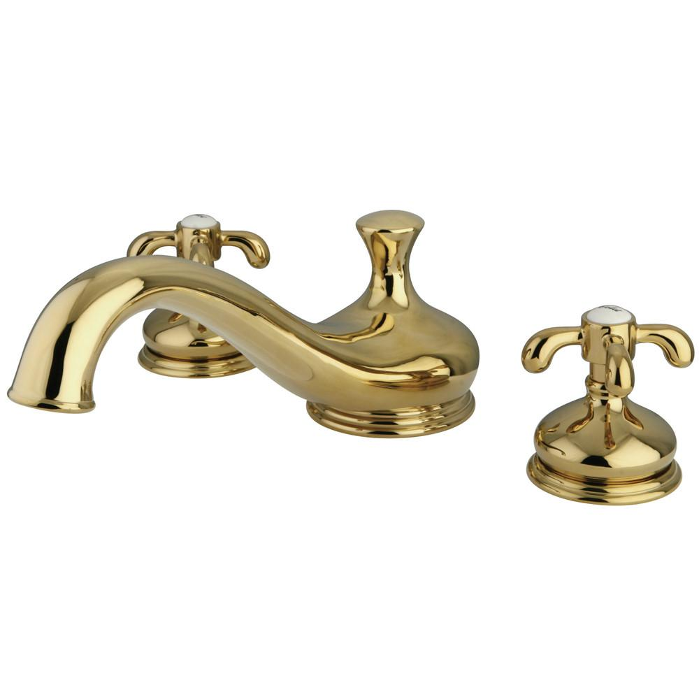 Kingston Polished Brass French Country Roman tub filler Faucet KS3332TX