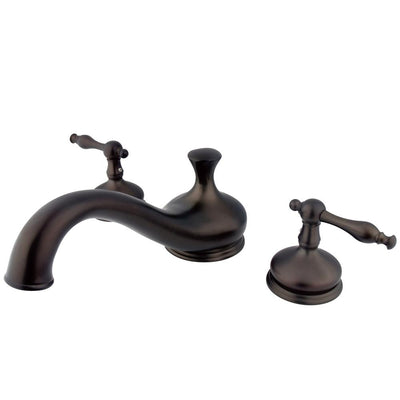 Oil Rubbed Bronze Heritage Two Handle Roman Tub Filler Faucet KS3335NL