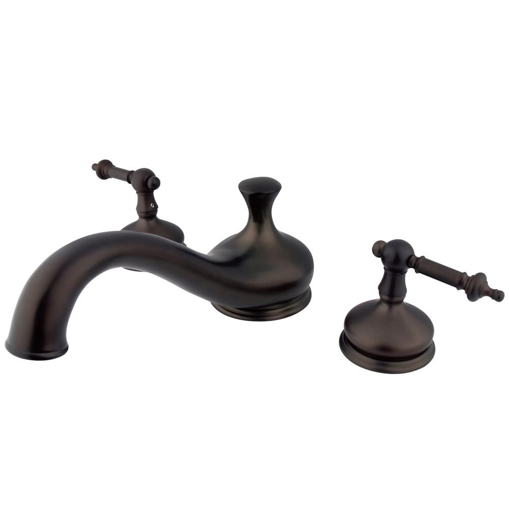 Oil Rubbed Bronze Two Handle Roman Tub Filler Faucet KS3335TL