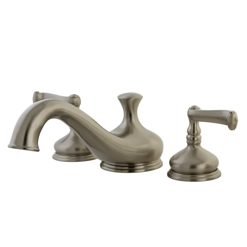 Kingston Brass Satin Nickel Royale Two Handle Roman Tub Filler Faucet KS3338FL