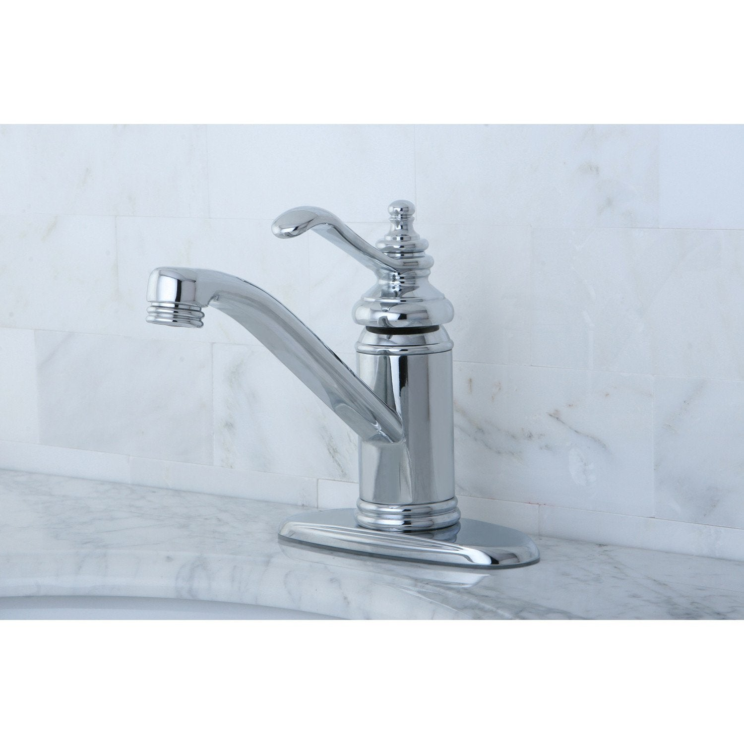 "Chrome Templeton 4"" Single Handle Bathroom Faucet W/Push Down Pop-Up KS3401TL"