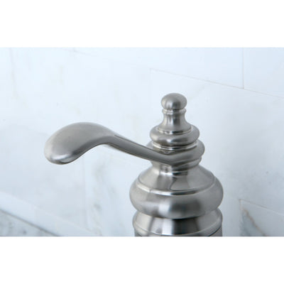 Kingston Satin Nickel Templeton One Handle Bathroom Faucet W/Push Drain KS3408TL