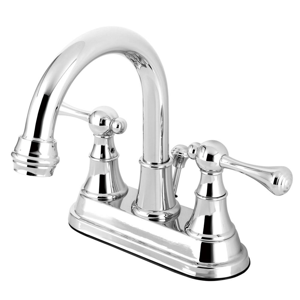 "Kingston English Country Chrome 4"" Centerset Bathroom Faucet KS3661BL"