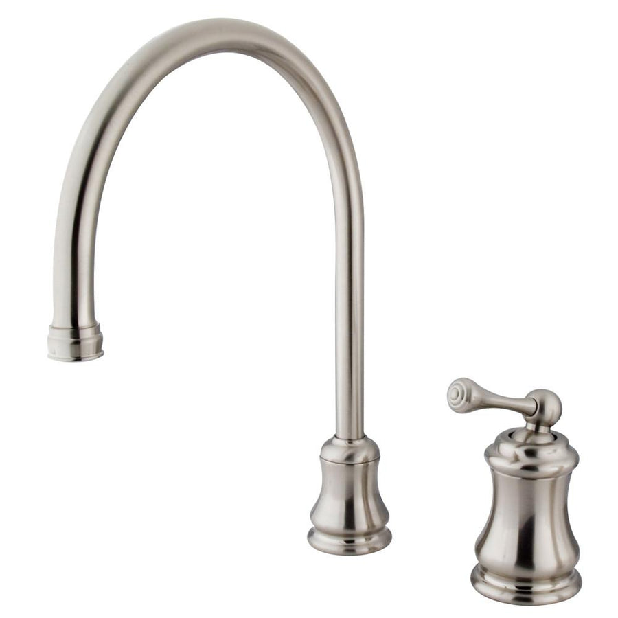 2 hole kitchen faucets get a two hole kitchen sink faucet kingston satin nickel single handle widespread kitchen faucet ks3818blls
