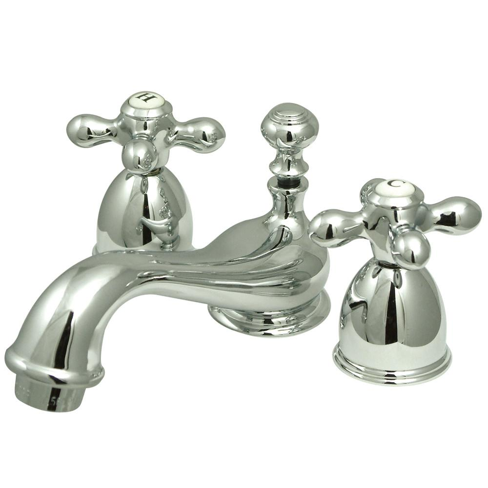 Kingston Brass Chrome Mini widespread Bathroom Lavatory Faucet KS3951AX