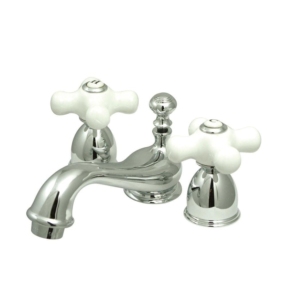 Kingston Brass Chrome Mini widespread Bathroom Lavatory Faucet KS3951PX