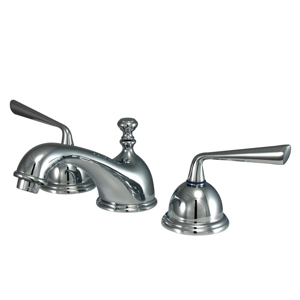 Kingston Brass Silver Sage Chrome Widespread Bathroom Lavatory Faucet KS3961ZL