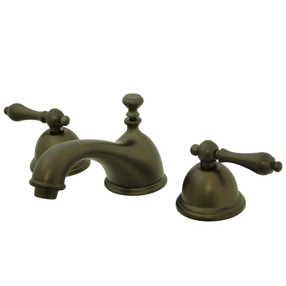 Kingston Oil Rubbed Bronze 2 Handle Widespread Bathroom Faucet w Pop-up KS3965AL
