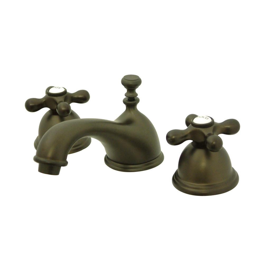Kingston Oil Rubbed Bronze 2 Handle Widespread Bathroom Faucet w Pop-up KS3965AX