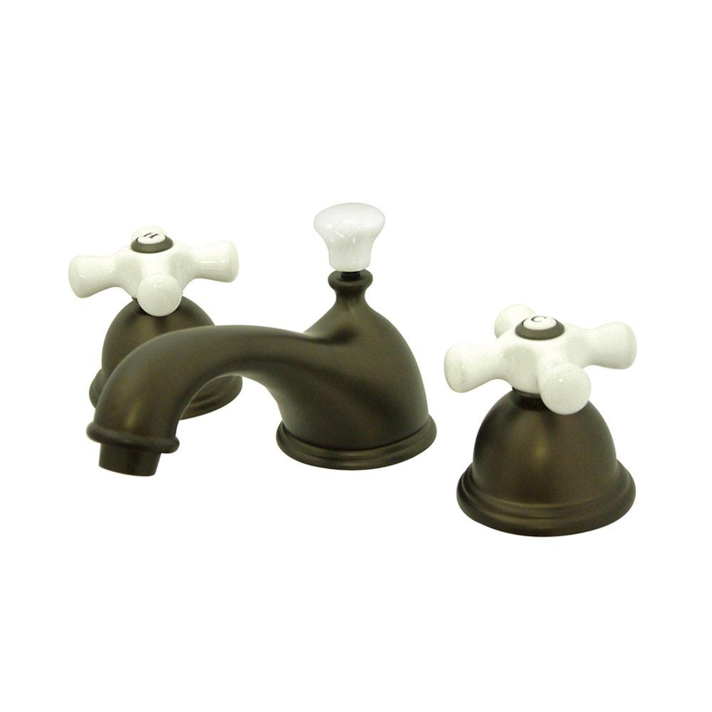 Kingston Oil Rubbed Bronze 2 Handle Widespread Bathroom Faucet w Pop-up KS3965PX