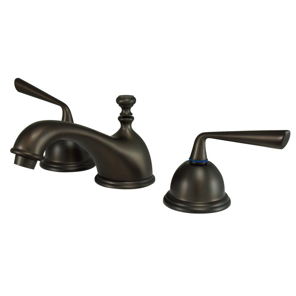 Kingston Silver Sage Oil Rubbed Bronze Widespread Bathroom Faucet KS3965ZL