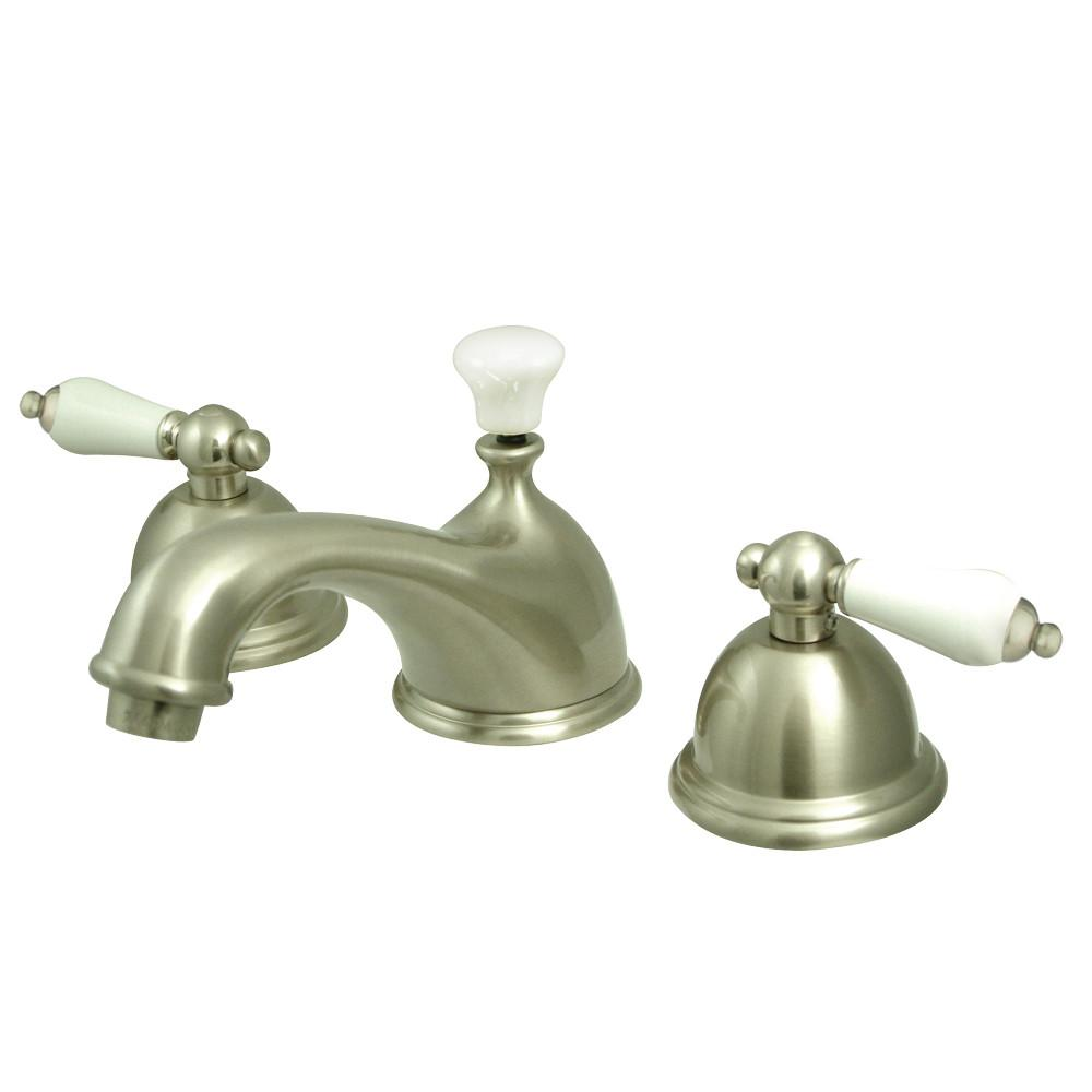 Kingston Satin Nickel 2 Handle Widespread Bathroom Faucet w Pop-up KS3968PL