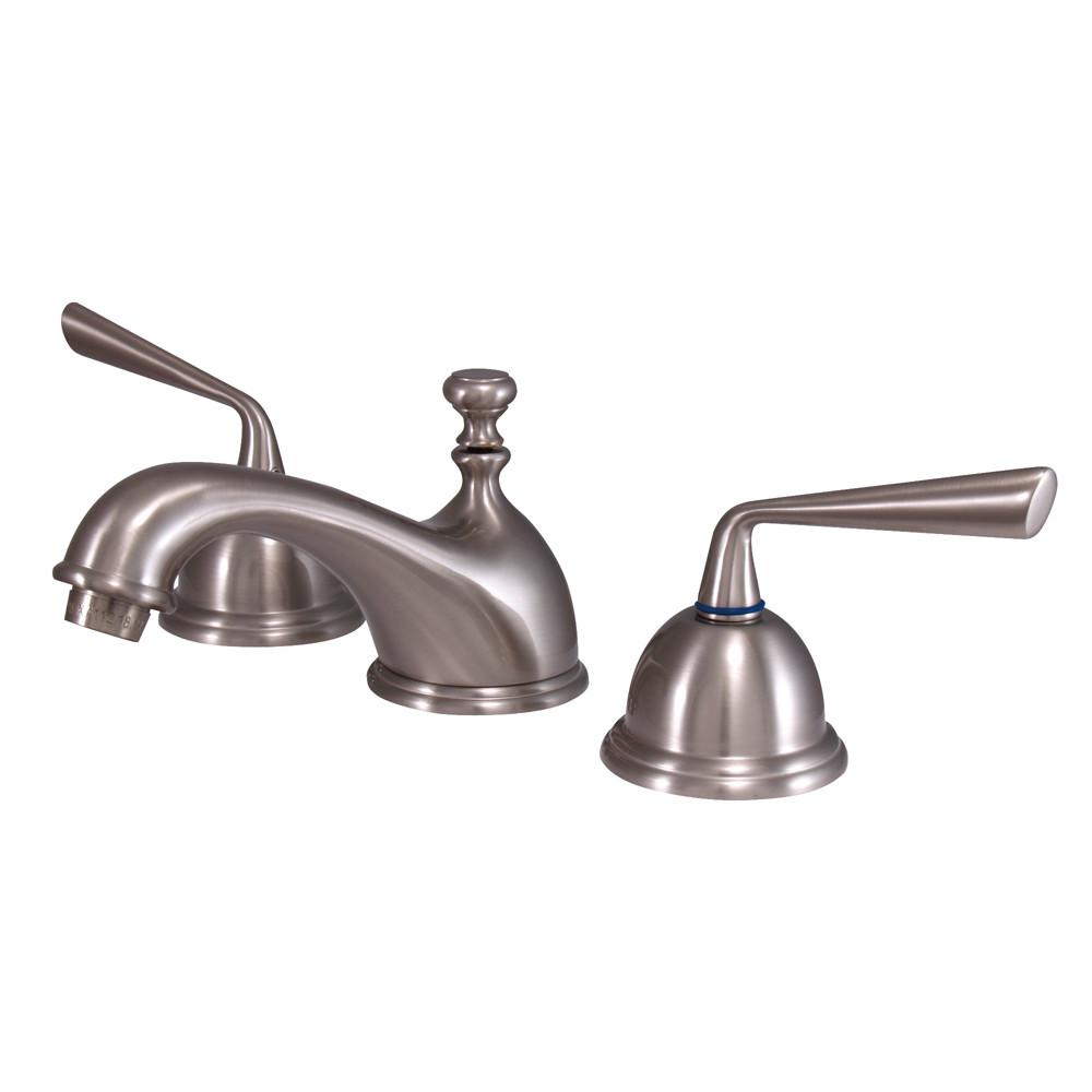 Kingston Silver Sage Satin Nickel Widespread Bathroom Lavatory Faucet KS3968ZL
