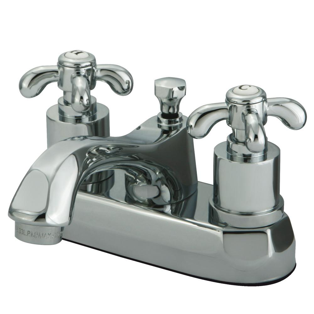"Kingston Brass Chrome French Country 4"" Center Set Bathroom Faucet KS4261TX"