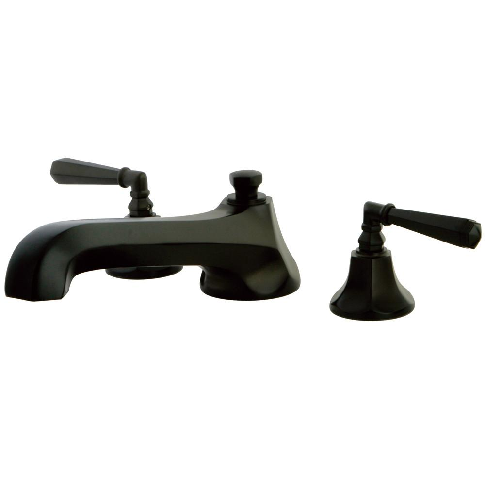 Oil Rubbed Bronze Metropolitan Two Handle Roman Tub Filler Faucet KS4305HL