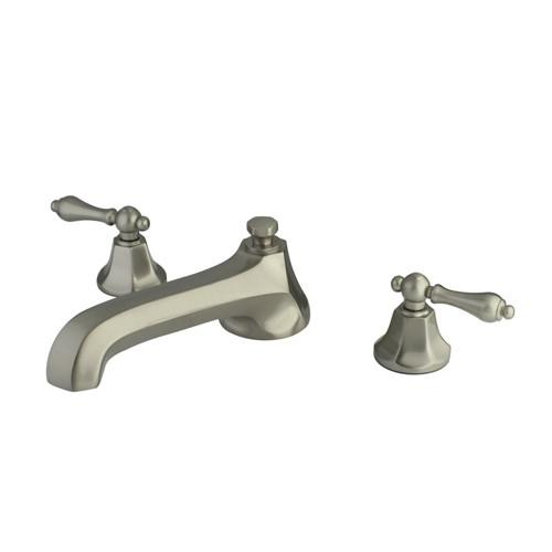Kingston Satin Nickel Metropolitan Two Handle Roman Tub Filler Faucet KS4308AL