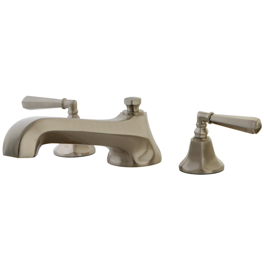 Kingston Satin Nickel Metropolitan Two Handle Roman Tub Filler Faucet KS4308HL