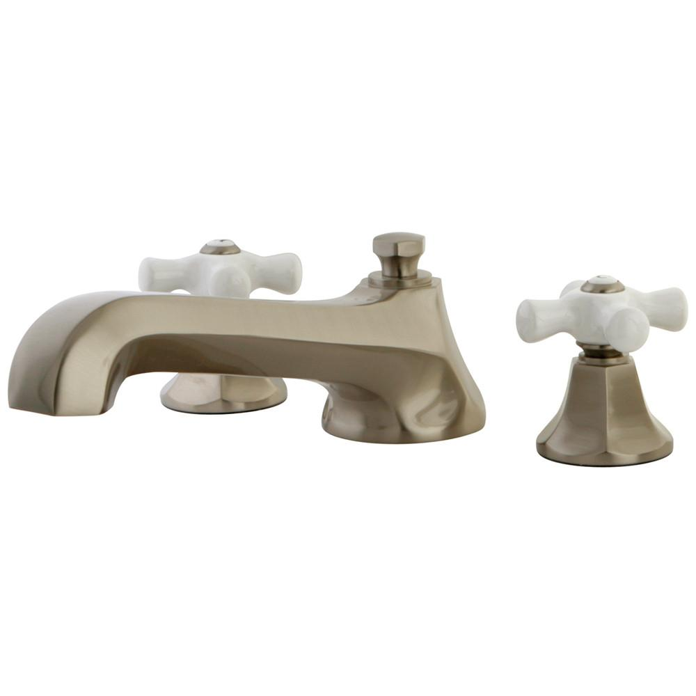 Kingston Satin Nickel Metropolitan Two Handle Roman Tub Filler Faucet KS4308PX