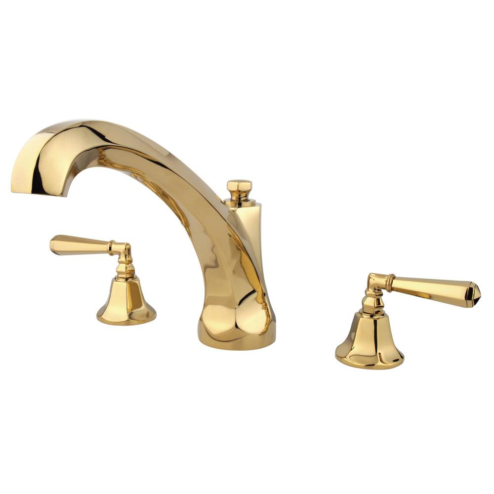Kingston Brass Polished Brass Two Handle Roman Tub Filler Faucet KS4322HL