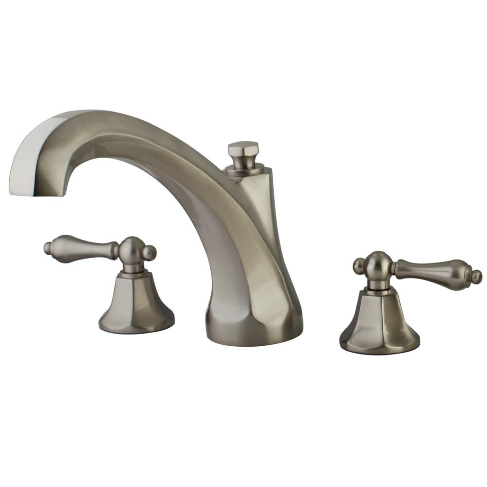 Kingston Satin Nickel Metropolitan Two Handle Roman Tub Filler Faucet KS4328AL