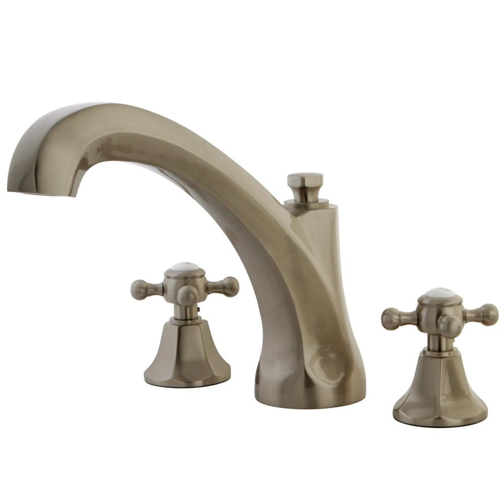 Kingston Satin Nickel Metropolitan Two Handle Roman Tub Filler Faucet KS4328BX