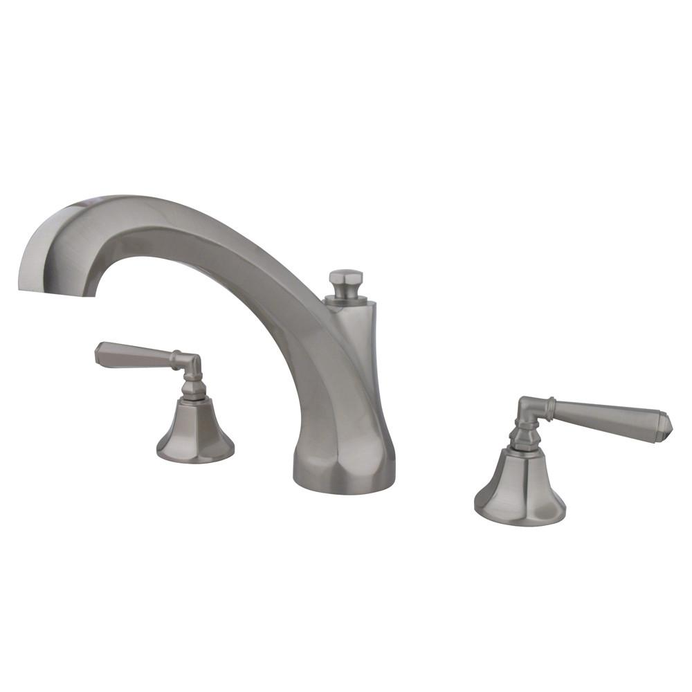 Kingston Brass Satin Nickel Two Handle Roman Tub Filler Faucet KS4328HL